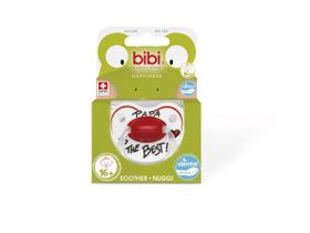 Bibi - Soother Silicone - Papa Is The Best - 16 Months